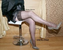 Super Shine Deep Lace Top Hold Ups